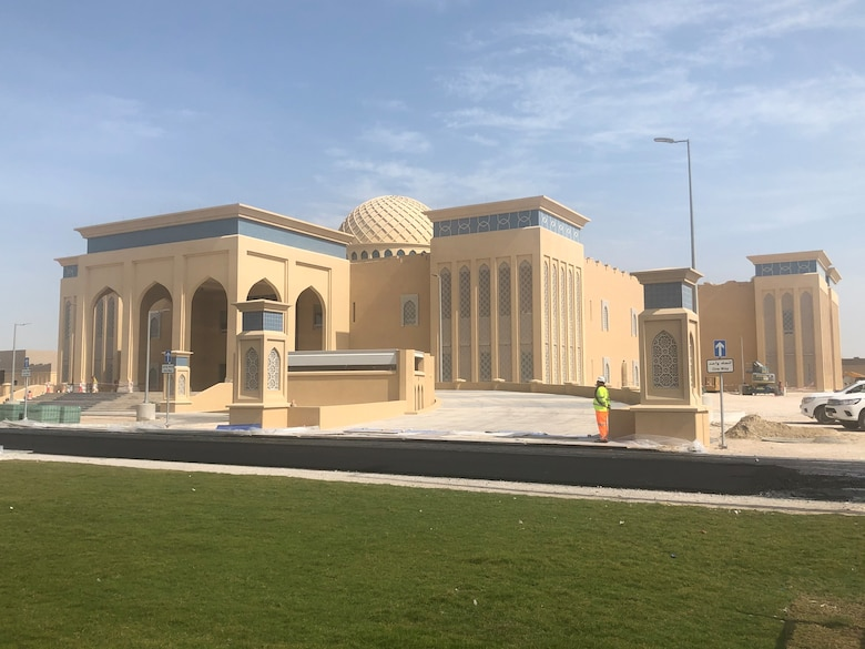 The headquarters building for the SHIELD 5 missile defense project in Qatar. The SHIELD 5 program built missile defense infrastructure project was managed by the U.S. Army Corps of Engineers on behalf of Qatar. Large scale projects such as this, which involve multiple sites and a long construction schedule require significant analysis from the District's cost engineering team to provide an accurate assessment of cost.