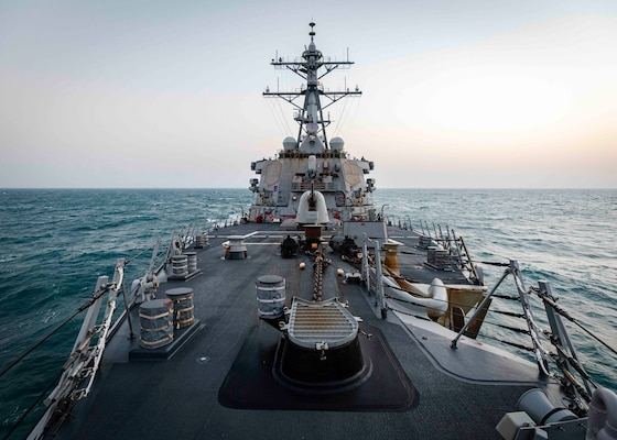 TAIWAN STRAIT - The Arleigh Burke-class guided-missile destroyer USS John S. McCain (DDG 56) is conducting routine underway operations in support of stability and security for a free and open Indo-Pacific. McCain is forward-deployed to the U.S. 7th Fleet area of operations in support of security and stability in the Indo-Pacific region.