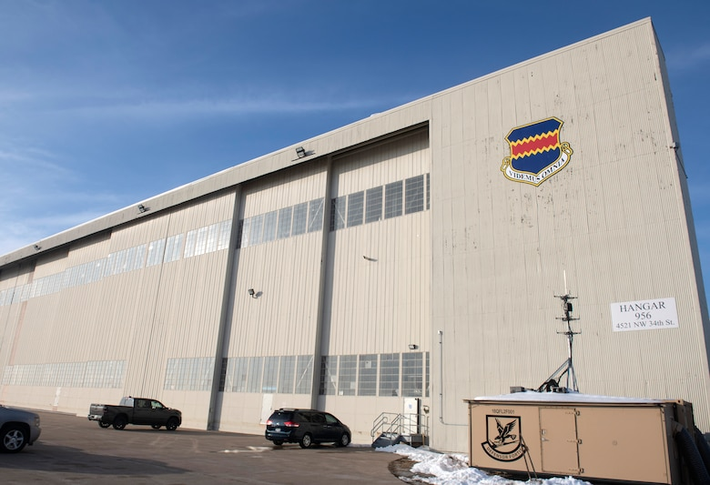 A photo of a hangar for a story on Offutt's move to the Lincoln, NE Airport