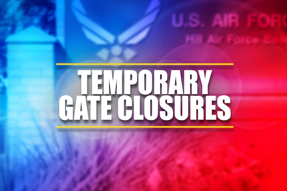 Graphic depicting the words temporary gate closures.