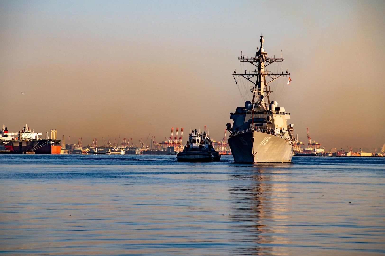 USS Rafael Peralta arrives in Japan, joins U.S 7th Fleet