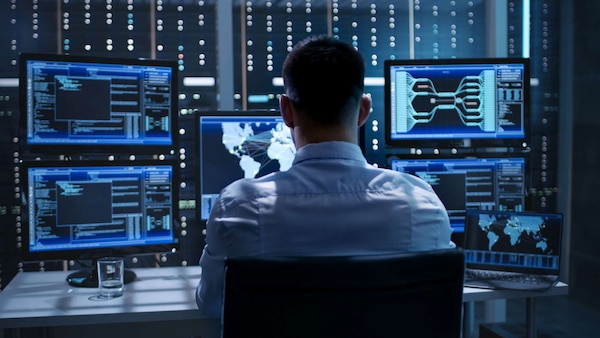 System Security Specialist Working at System Control Center.