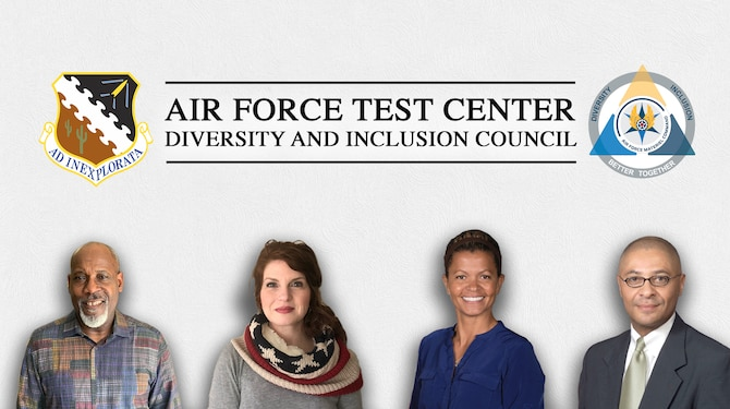Graphic with Air Force Test Center Diversity and Inclusion representatives