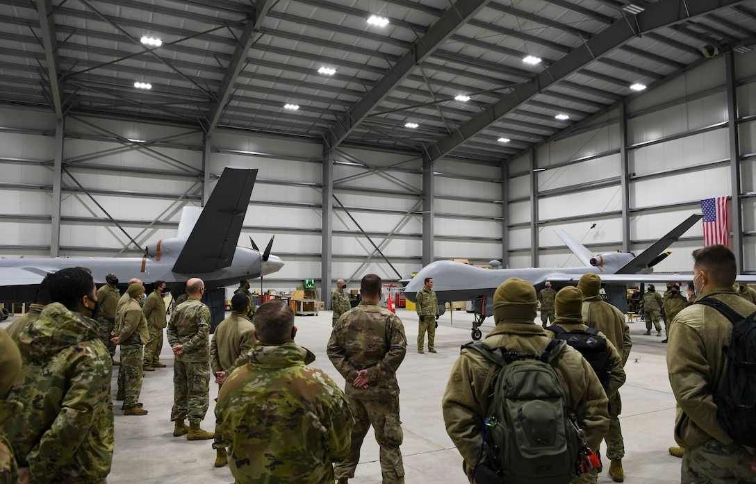 The recent MQ-9 Reaper aircraft presence here demonstrates the United States' commitment to the security and stability of Europe, and aims to strengthen relationships between NATO allies and other European partners.