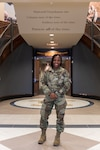 1st Lt. Jovanni Springer, Indiana National Guard's Adjutant General Brig. Gen. Lyles' new aide-de-camp, represents three firsts in her new position. She is the first woman, person of color and Airmen to hold the position for Indiana. Today, more than 193,000 African Americans serve in the U.S. Army, including active-duty, National Guard and Army Reserve. (Photo by Army National Guard Sgt. Joshua Syberg)