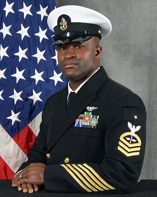 TINKER AIR FORCE BASE, Okla. -- (Feb. 5, 2021) Official portrait of Senior Chief Petty Officer Emefre Nkere. (U.S. Navy photo)