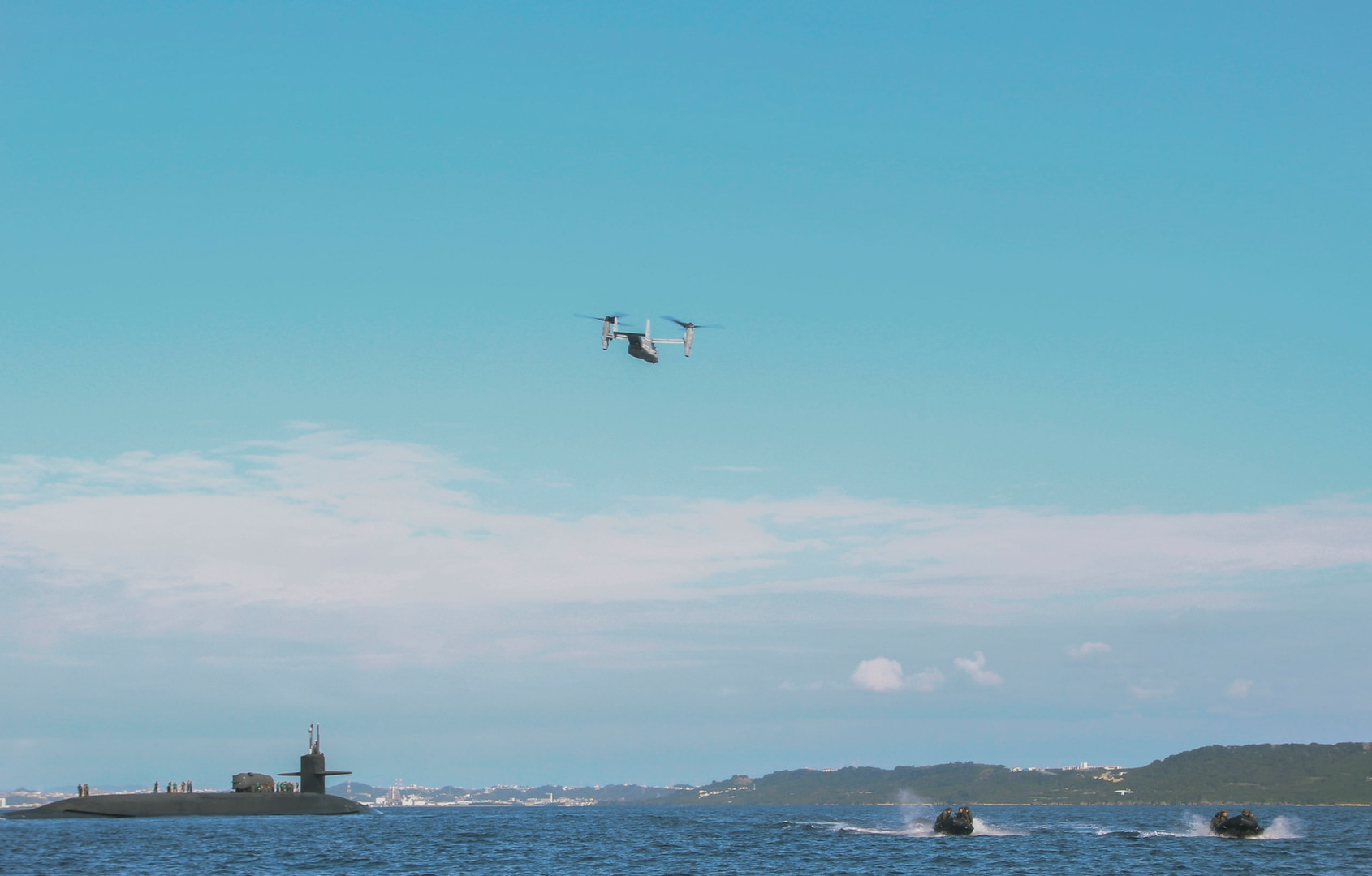 USS Ohio conducts joint operations with Marine Corps element near Okinawa