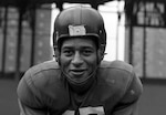 Emlen Tunnell was the first African American to play NFL football for the New York Giants. Tunnell also posthumously received the Coast Guard Silver Lifesaving Medal for his actions in World War II. (U.S. Coast Guard courtesy photo)