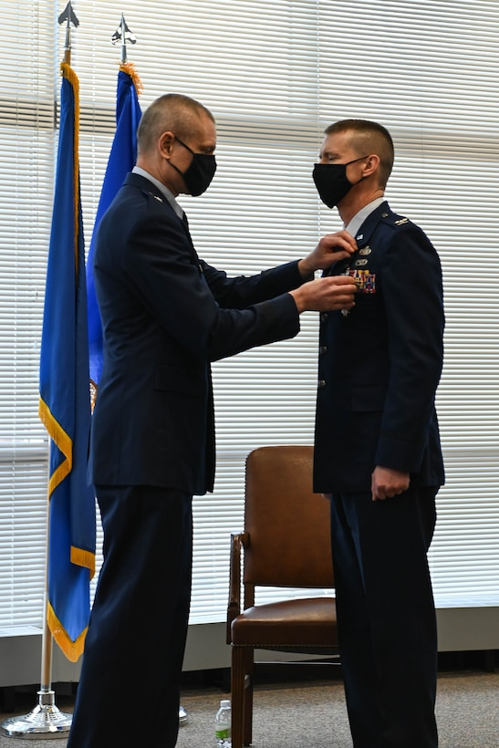 Col. Mark Chidley retires from the Iowa Air National Guard's 132d Wing on February 6, 2021 at the 132d Wing Air Base in Des Moines, Iowa.