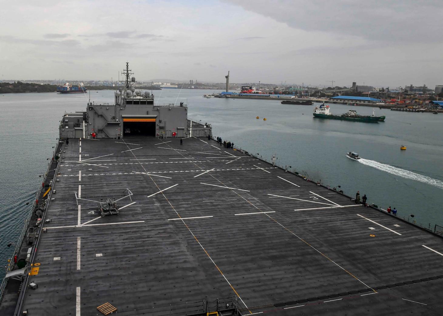 "USS Hershel ""Woody"" Williams (ESB 4); Mombasa, Kenya"