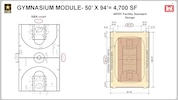 Gymnasium Module - 50' X 94' = 4,700 Sq. Ft. Graphic