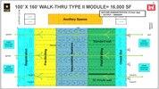 100' X 160'  Walk-Thru Type II Module 16,000 sq. ft. graphic