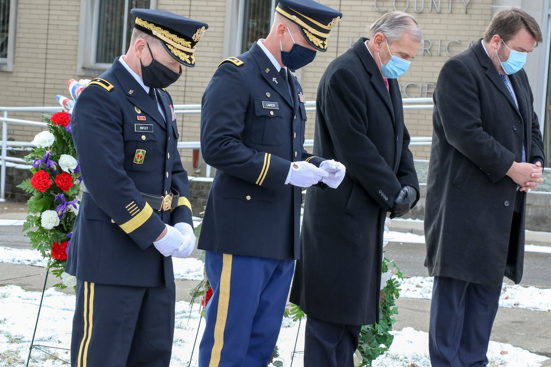Wreath laying ceremony for President William McKinley