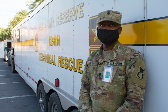 Soldier participates in Urban Search & Rescue exercise in Nevada