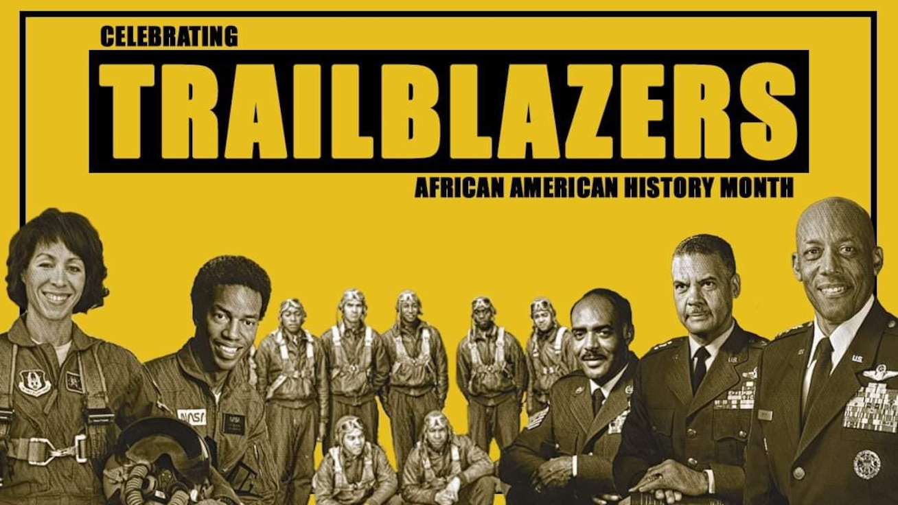 A graphic depicting trailblazers for African American History Month.