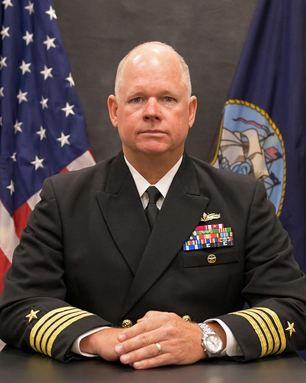 Studio portrait of Capt. Charles E. Hampton