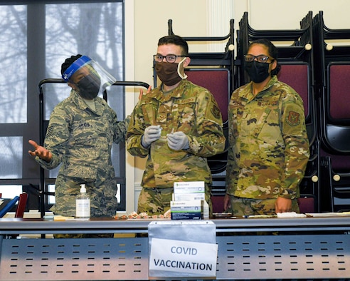 The 910th Medical Squadron began administering the COVID-19 vaccine to Airmen who volunteered to receive it during the February unit training assembly.