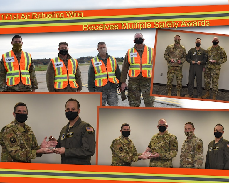 Graphic that shows the 171 security team with awards