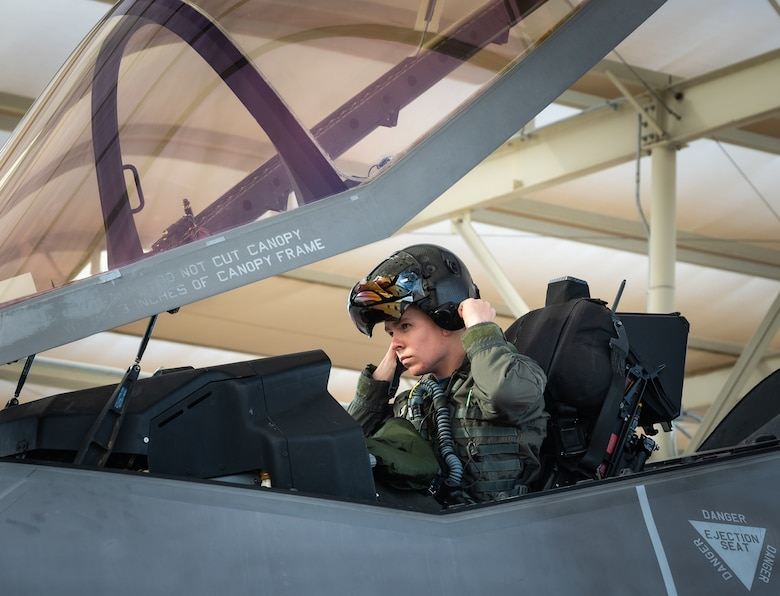 First Lt. Steven Boger, 62nd Fighter Squadron student pilot, prepares for flight Jan. 29, 2021, at Luke Air Force Base, Arizona.