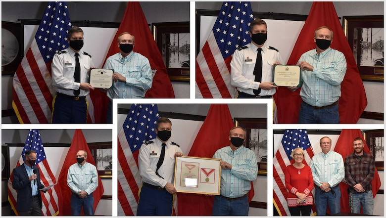IN THE PHOTOS, Wildlife Biologist and Project Manager Randy Clark retired from the Memphis District after serving 37 years of federal service. Congratulations and many thanks for your dedicated service to the U.S. Army Corps of Engineers mission and this great nation. (USACE photos by Vance Harris)