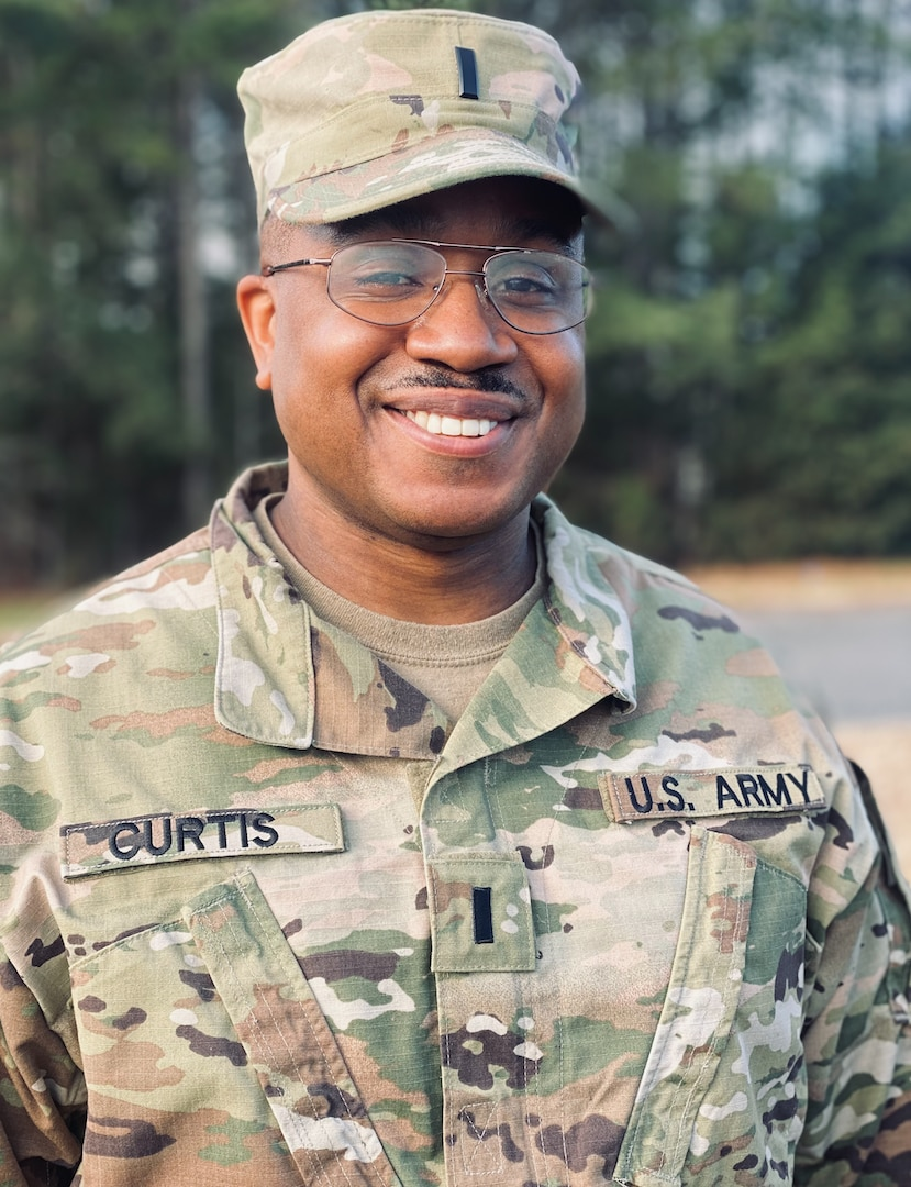First Lt. Andrew Curtis, preventive medicine officer for the Virginia National Guard