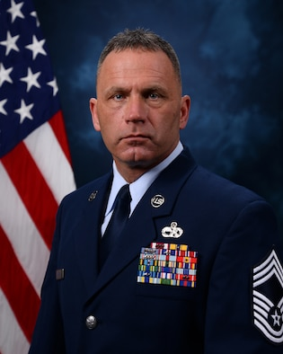 An official photograph of CMSgt Anthony Fisher