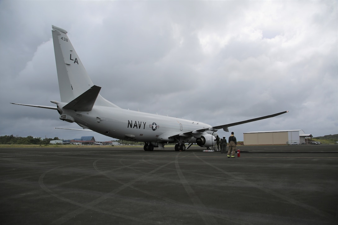 U.S. Marines conducted an expeditionary refueling exercise with a U.S. Navy Poseidon P-8 with Patrol Squadron 5 during MEFEX 21, in Airai Republic of Palau, February 7.