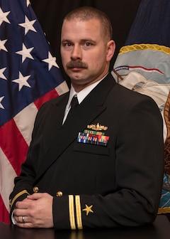 Studio portrait of Lt. Brian A. Skirvin