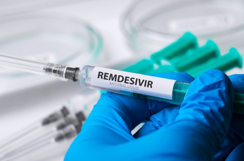 Remdesivir drug in syringe