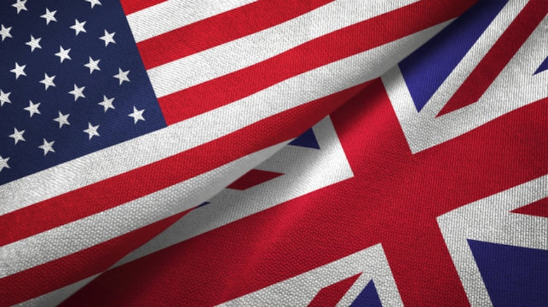 US and UK flags together
