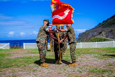 1st Battalion, 3rd Marine Regiment change of command ceremony