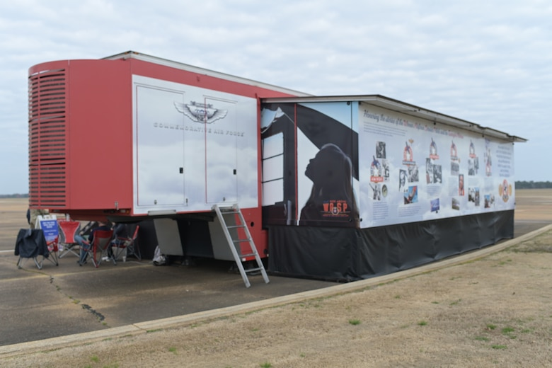 The Commemorative Air Force brought with them a mobile museum to Columbus Air Force Base, Miss. to help commemorate the Tuskegee Airmen for Black History Month. (U.S. Air Force photo by Airman 1st Class Davis Donaldson)