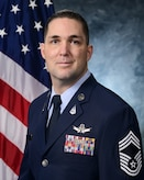 Official photo for Chief Master Sgt. Michael J. Rozneck.