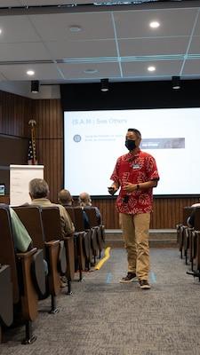 Danny Kim, Arbinger Master Facilitator, facilitates an Outward Mindset workshop for PHNSY & IMF work personnel.