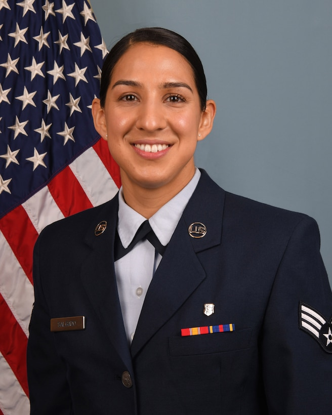 Senior Airman Jeanette Salgado, 445th Aeromedical Staging Squadron medical materiel journeyman, is the 445th Airlift Wing Airman of the Quarter.