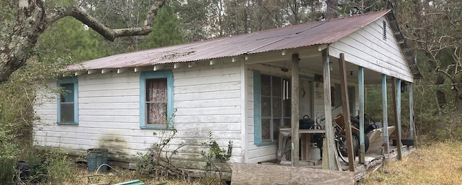 The Phipps family home sits off of Phipps Road in Point Blank, Texas.