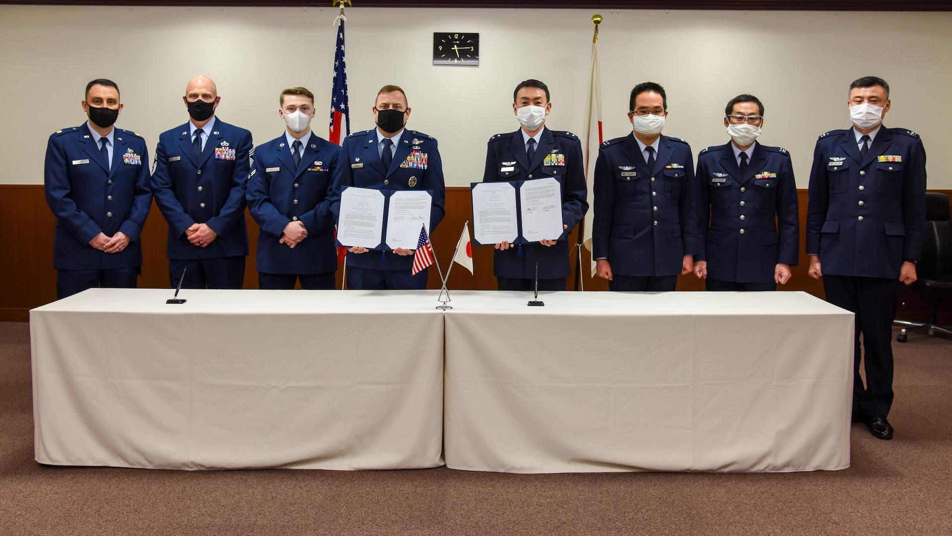 Misawa Air Base Leaders Sign International Memorandum of Understanding