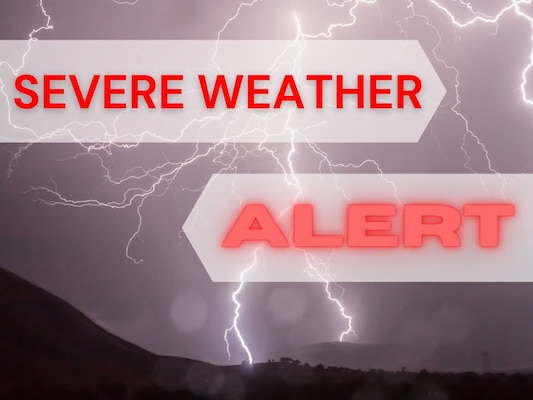 Severe weather alert graphic