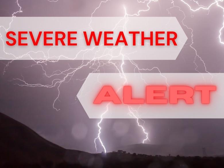 Severe weather alert graphic