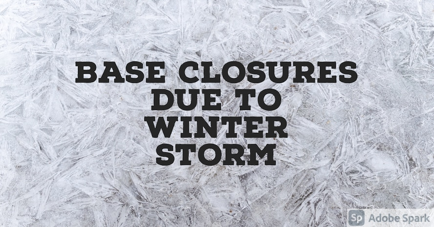 Graphic created to notify base populous of base closures.