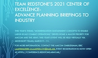 Team Redstone's 2021 Center of Excellence — Advance Planning Briefings to Industry is scheduled for March 9-11. Registration is open.