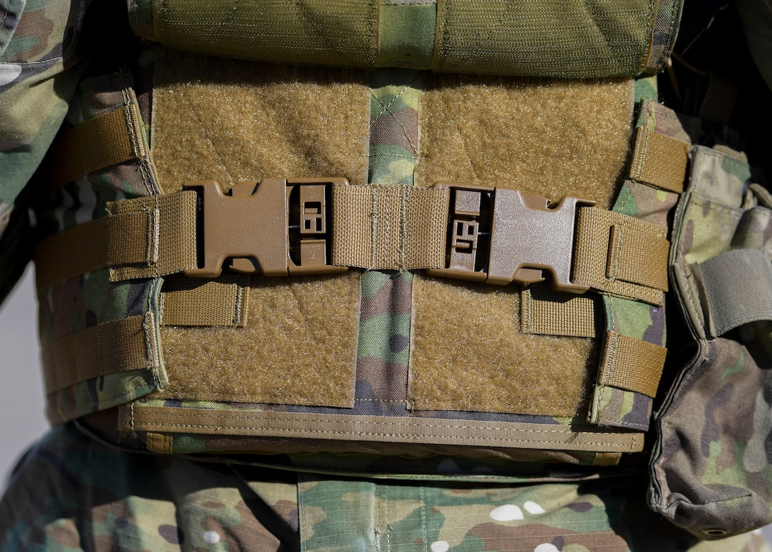 Close up photo of body armor