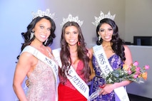 Maj. Jennifer stands with other participants in the United States of America's Mrs. Nevada pageant for a photo.