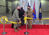 Leaders at Corpus Christi Naval Air Station hosted a ribbon cutting ceremony, Feb. 12, 2021, to commemorate the completion of the Aircraft Corrosion Control Facility at Corpus Christi Army Depot, located in Corpus Christi, Texas. 