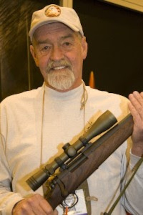 """Sgt. Charles """"Chuck"""" Mawhinney, who recorded 103 confirmed kills and 216 probable kills with the M40 sniper rifle and Redfield 3x9x40 scope while serving in the Vietnam War. Stone Bay will be designated with the call word """"Redfield"""" during a ceremony held by Weapons Training Battalion (WTBN) at building RR120 at Stone Bay, on Marine Corps Base Camp Lejeune, North Carolina, Feb. 19, 2020. (Courtesy photo submitted by Sgt. Charles """"Chuck"""" Mawhinney)"""