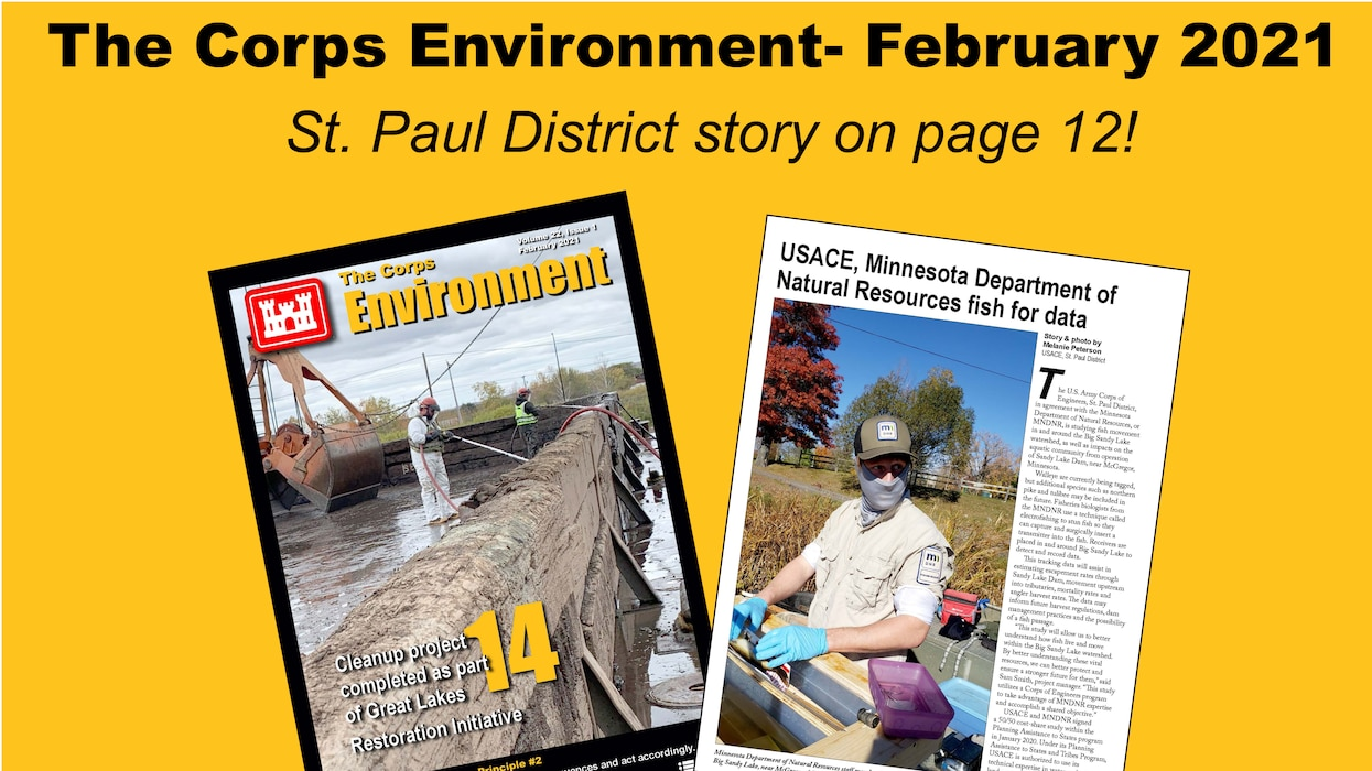 The  February edition of The Corps Environment is now available.