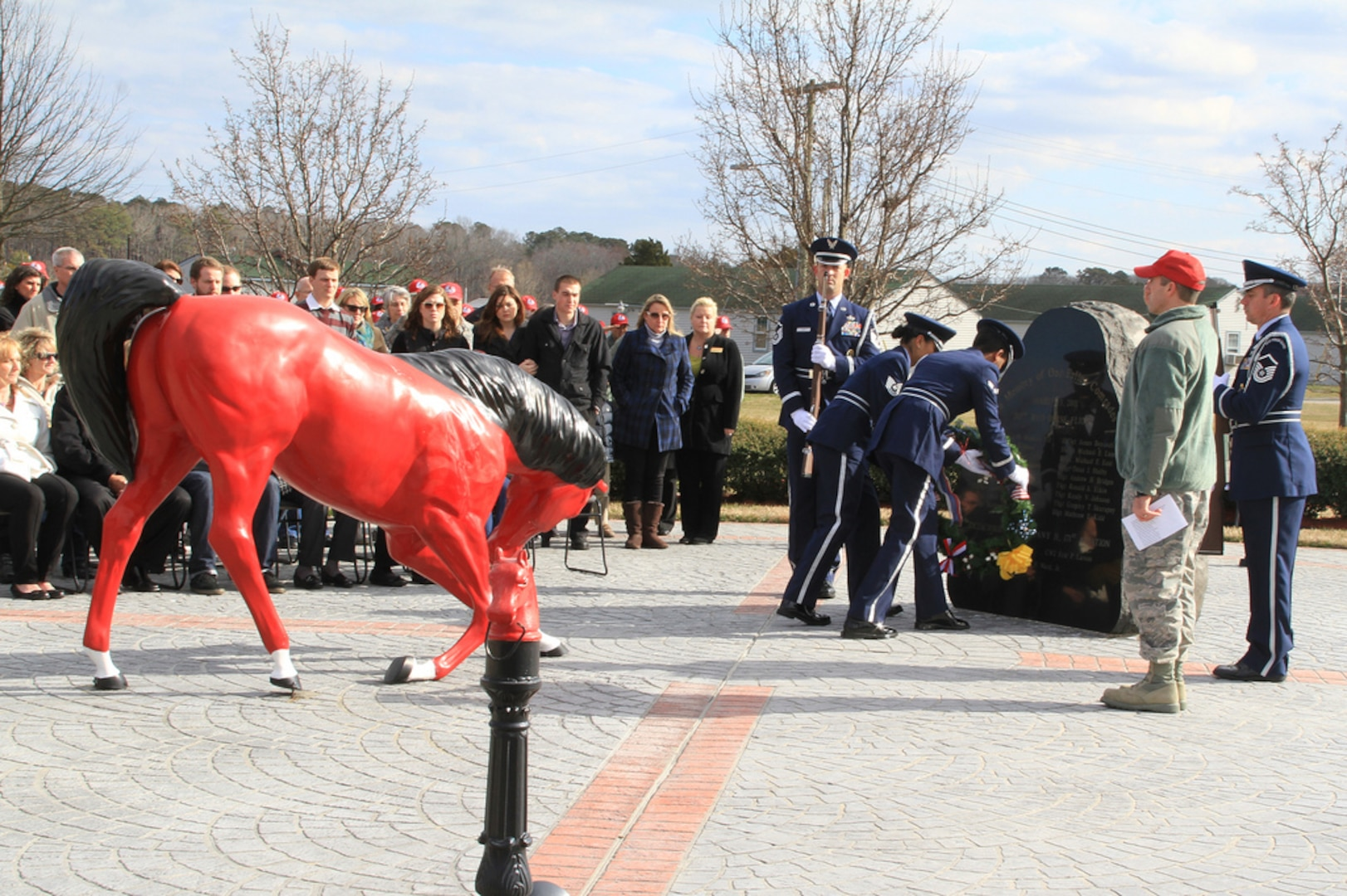 203rd RED HORSE memorial service honors 12th anniversary of fatal airplane crash