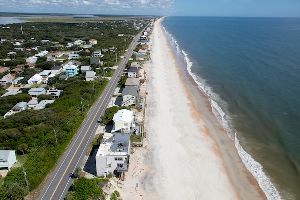 The ocean shoreline of St. Johns County is approximately 42 miles long.
