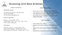 Accessing Joint Base Andrews