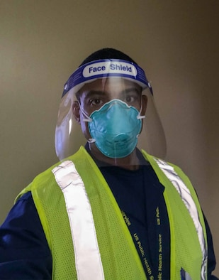 Man in protective gear